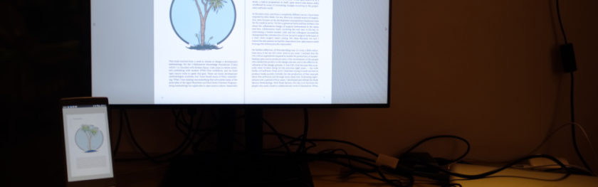 A screenshot of the Cabbage tree book in the browser