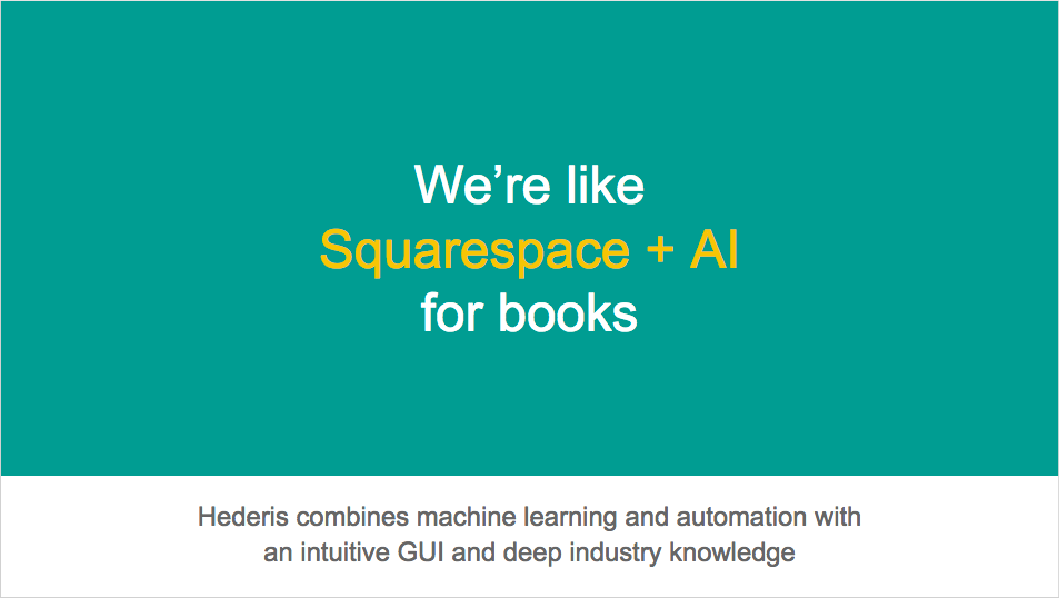 We're like Squarespace plus AI for books